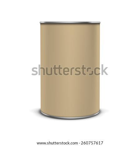 Vector Coffee Tea Packaging Package Bank Jar Tin Pot Isolated on White Background - stock vector