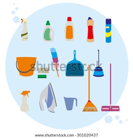 Stock Images similar to ID 147264629 - cleaning tools ...