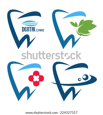 vector collection of healthy teeth - stock vector