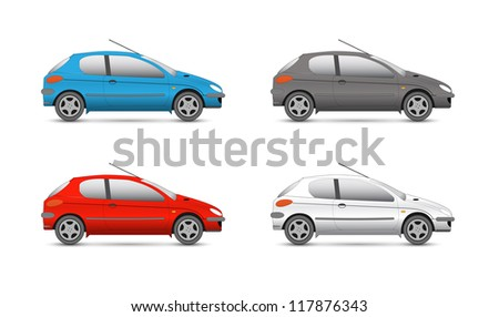 Vector collection web icons. car and auto set - stock vector
