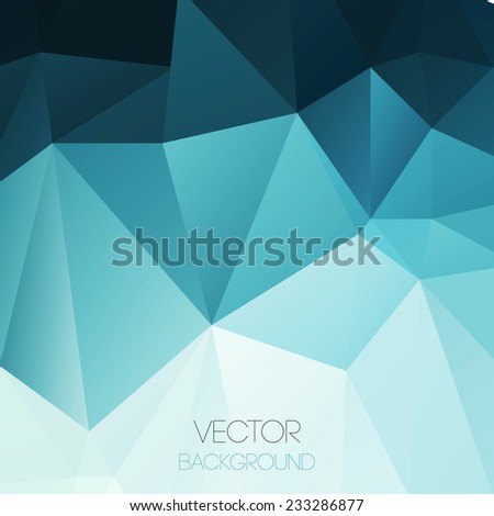 Vector color abstract geometric banner with triangle. - stock vector