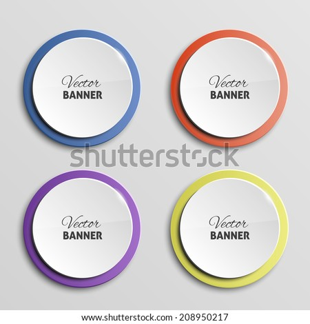 Vector color banners - stock vector