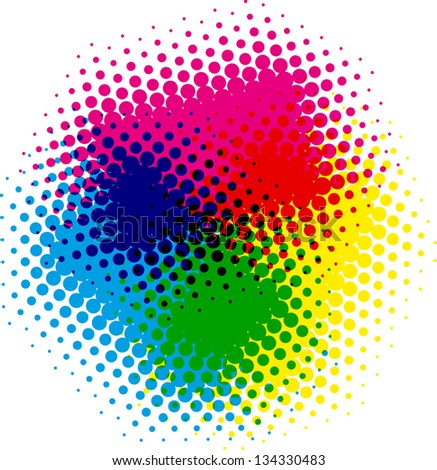 vector color dot background - stock vector