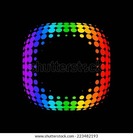 vector color dot background. abstract  halftone background - stock vector
