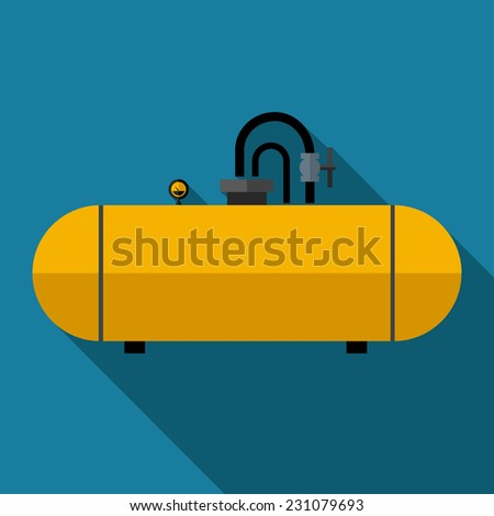 Vector color flat cistern icon. Industrial. Eps10 - stock vector