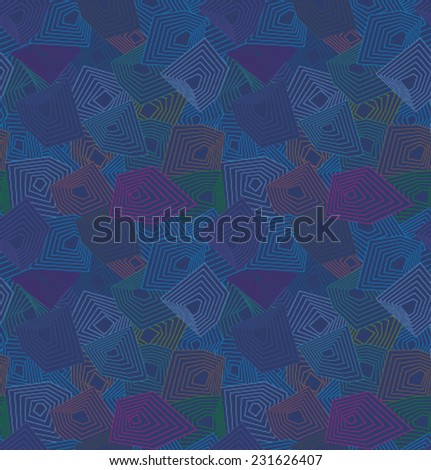 Vector color geometric pattern - stock vector