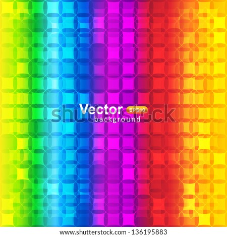 Vector color mosaic - stock vector