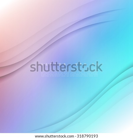 Vector color of wavy banner. Gray background - stock vector