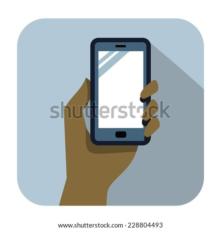 vector color smart phone icons set on white - stock vector