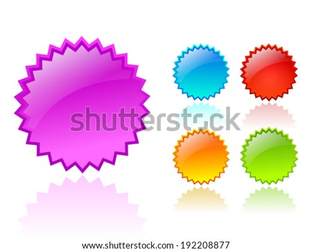 Vector color stars - stock vector