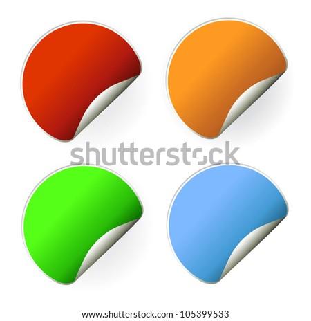 Vector color sticker on white - stock vector