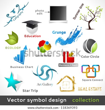 Vector Color Symbol Design. Design Elements. - stock vector