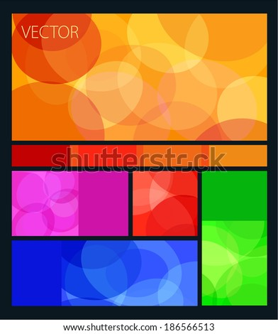 vector colored flat user interface - stock vector