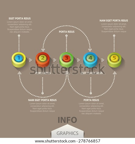 Vector colored numbers (elements for design and business) - stock vector