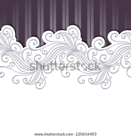 Vector Colored Ornate Backgrounds. Hand Drawn Texture with Ornamental Lace - stock vector