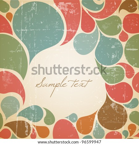 Vector Colorful abstract retro background with place for your text - stock vector