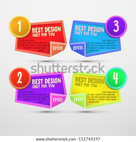 Vector colorful abstract sticker for design - stock vector