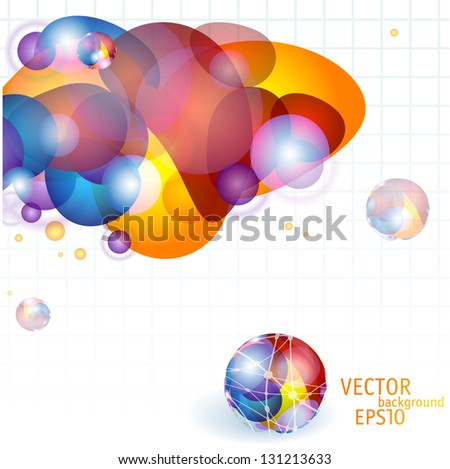 Vector colorful  abstract template. - stock vector