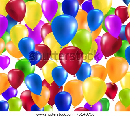 vector colorful balloons background - stock vector