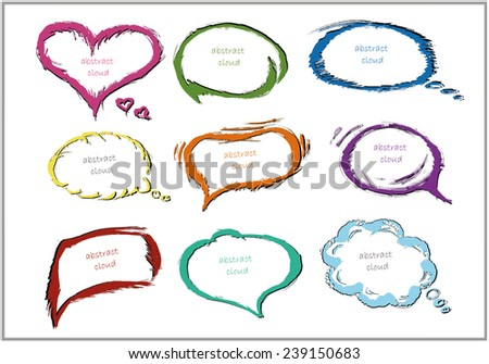 Vector Colorful cloud bubble for speech - stock vector
