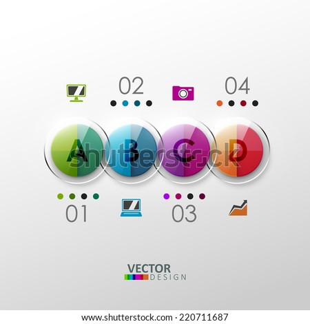 Vector colorful design elements. Template for infographic or web design.  - stock vector