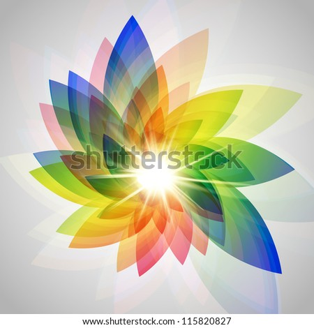 Vector colorful flower illustration - stock vector