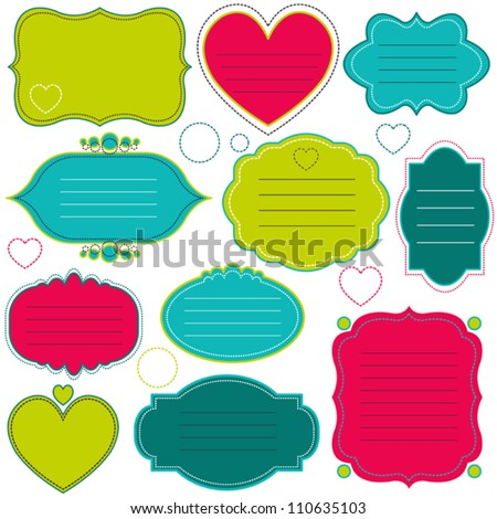 Vector colorful frames set - stock vector