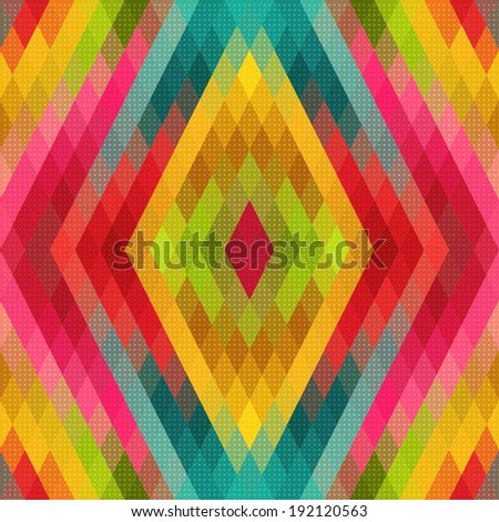 Vector Colorful Geometric Pattern - stock vector