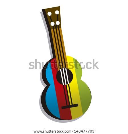 Vector Colorful Guitar - stock vector