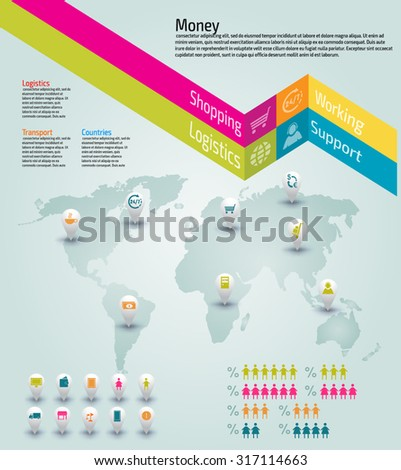 Vector colorful info graphics for your business presentations. Can be used for info graphics, graphic or website layout vector, numbered banners, diagram, web design. - stock vector
