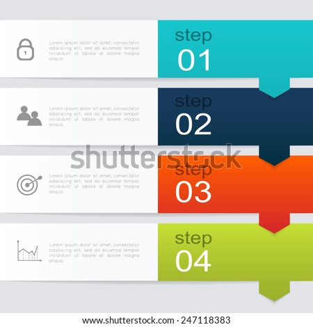 Trendy Colors stock images similar to id 235764772 - vector colorful info