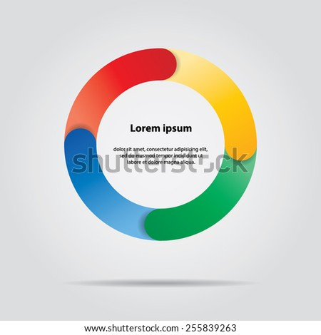 Vector colorful life cycle diagram. 4 Steps. - stock vector