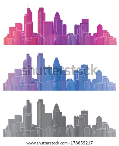 Vector colorful London city. - stock vector