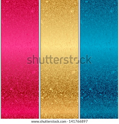 Vector colorful metal textures - stock vector