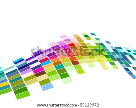 vector colorful mosaic pattern design - stock vector