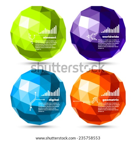 Vector - colorful spheroid banners - stock vector