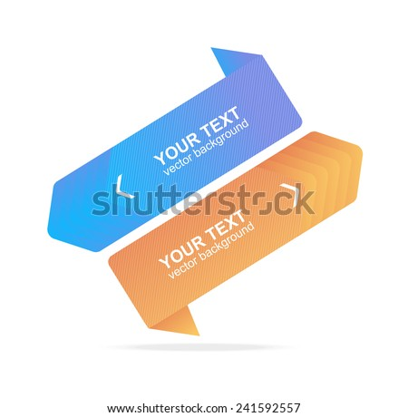 Vector colorful text boxes, infographics options banner - stock vector