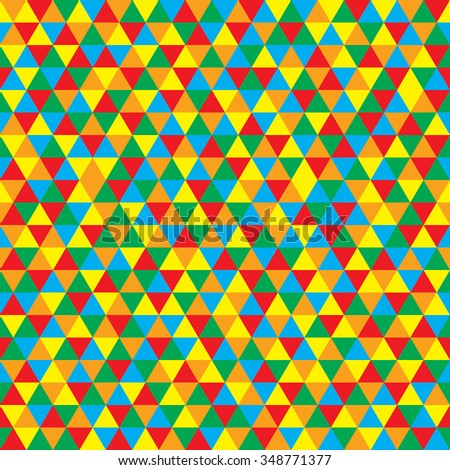 Vector colorful triangles pattern - stock vector