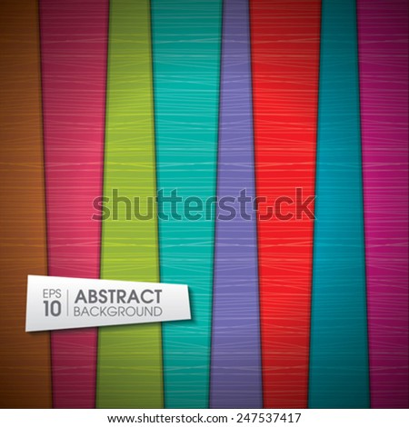 Vector colorful wooden background with place for your text - stock vector