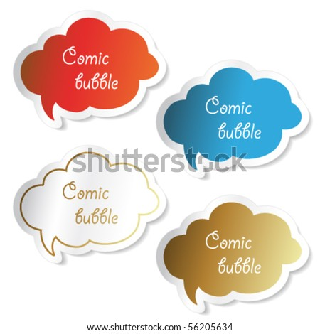 Vector comic bubbles - stock vector