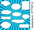 Vector Comic Speech Chat Bubbles - stock vector