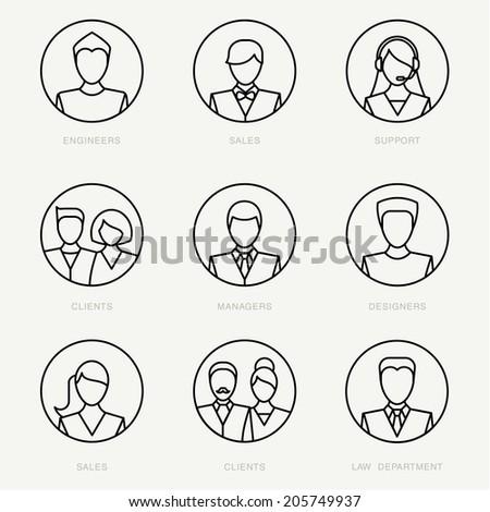 Vector company avatars - stock vector