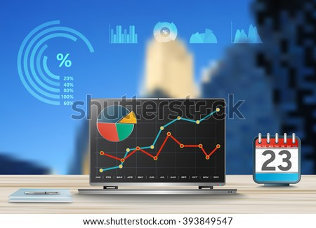 Vector comparing statistics in business,  info graphics report charts - stock vector