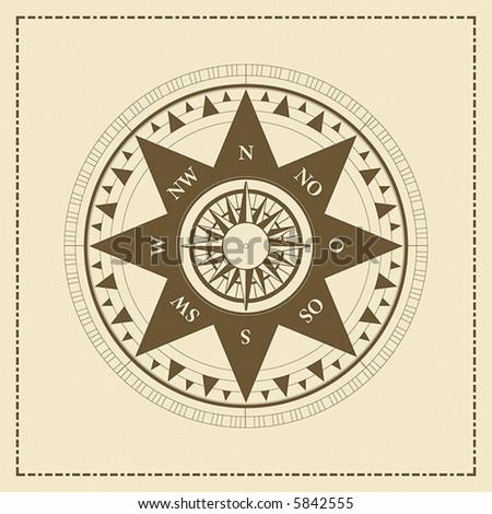 Vector Compass - stock vector