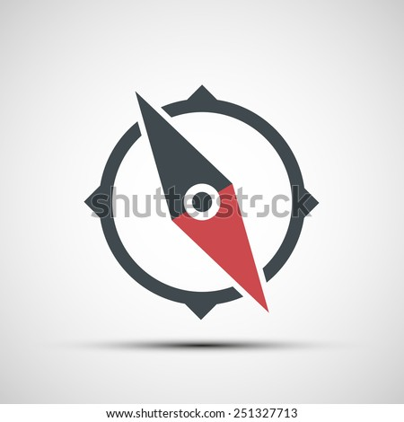 Vector compass icon - stock vector