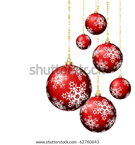 Vector composition with red balls - stock vector
