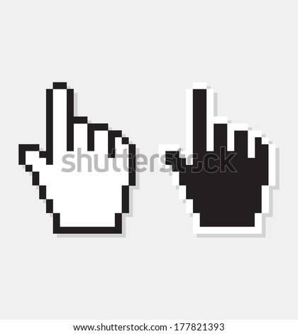 vector computer cursor - stock vector