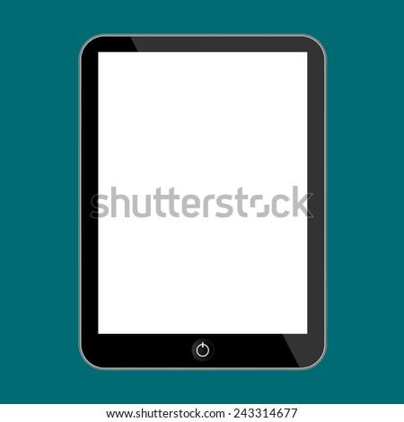 Vector computer tablet - stock vector