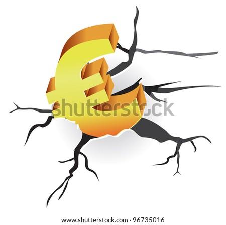 vector concept - euro crisis - stock vector