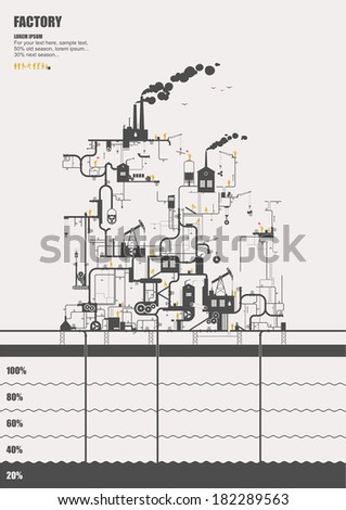 Vector concept - factory ( info graphic ) - stock vector